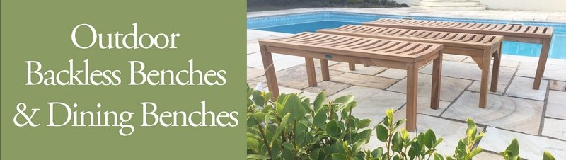 Outdoor Backless Benches & Dining Benches