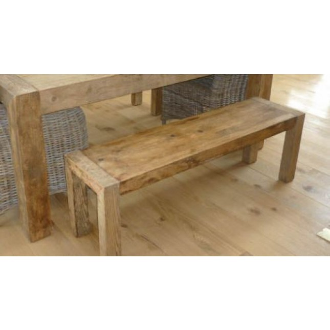 Reclaimed Elm Chunky Style 1.4m Luxury Dining bench