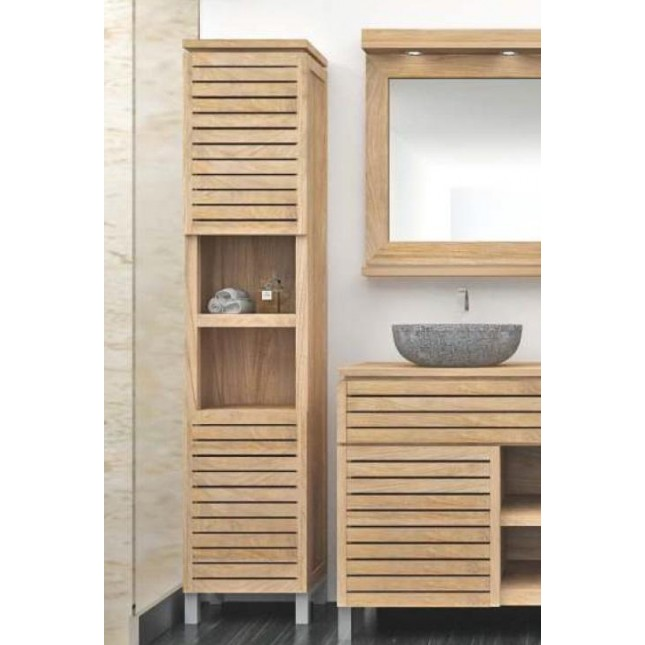 Diva Teak Tall Bathroom Cabinet