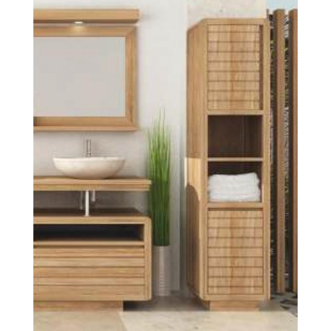 Vogue Teak Tall Bathroom Cabinet - Sustainable Furniture