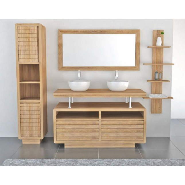 Vogue Teak Washstand with Two Drawers - 105cm X 80cm