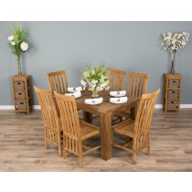 1.2m Reclaimed Teak Taplock Dining Table with 6 Santos Chairs