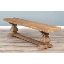 1.8m Reclaimed Elm Pedestal Dining Bench