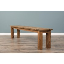 2m Reclaimed Teak Backless Mexico Dining Bench