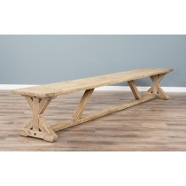3m Reclaimed Pine Cross Dining Bench