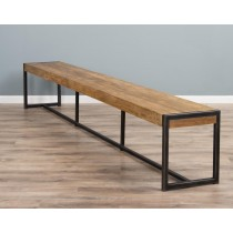 3m Reclaimed Teak Urban Fusion Dining Bench
