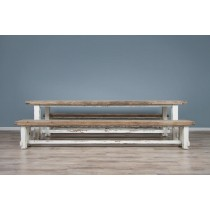 Reclaimed Pine Coastal 180cm Table and Bench Dining Set