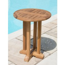 Teak Circular Pedestal Table - 60cm