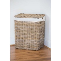 Natural Wicker Laundry Basket - Large