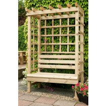 Swedish Redwood Garden Arbour Seat