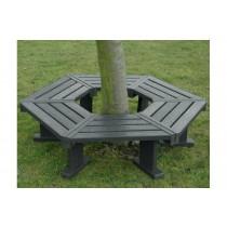 Recycled Plastic Hexagonal Tree Seat
