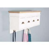 Brocante 4 Drawer Hall Storage Hook Unit