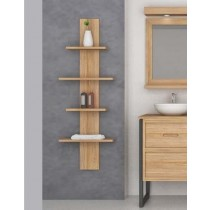 Teak Bathroom Column Shelves