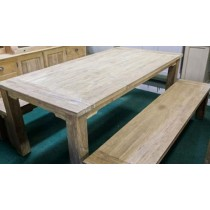 Reclaimed Teak Taplock Dining Table with benches Set (8 Seater)