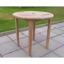 80cm Round Teak Garden Table