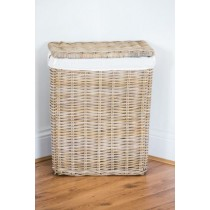 Natural Wicker Laundry Basket - Small