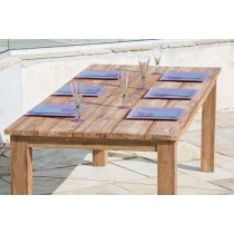 2m Rustic Reclaimed Teak Open Slat Dining Table