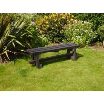 Recycled Plastic Backless Outdoor Bench