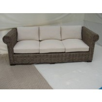Natural Wicker 3 Seater Bali Sofa