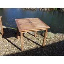 80cm Square Teak Garden Table