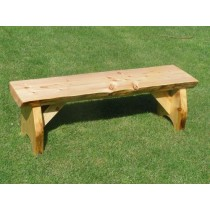 Solid Wooden Backless Bench - 120cm