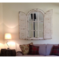 Shabby Chic Window Shutter Mirror