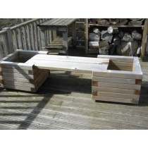Swedish Redwood Garden Planter Bench