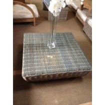 Natural Wicker Coffee Table - Square - 100cm