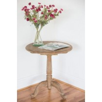 American Oak Grey Wash Circular Hall Table