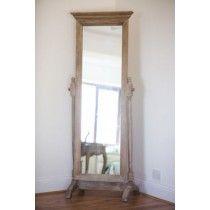 American Oak Grey Wash Bedroom Mirror