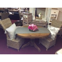 1.2m Oval Breakfast Table Set