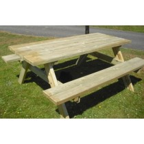 Rectangular Pub Style Picnic Bench - 6ft / 177cm