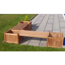 Teak Garden Bench - Fantasy Planter