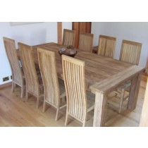 Reclaimed Teak Table Taplock and High Backed Teak Chairs
