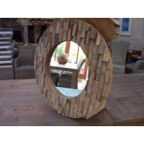 Reclaimed Circular Root Mirror