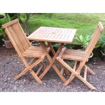 Teak 2 Seater Square Folding set