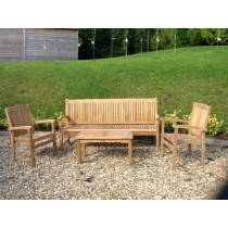 Teak Marley Bench and Armchair Set