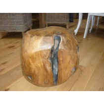 Teak Root Stool Square