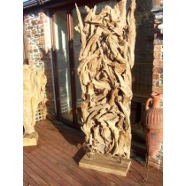 Rustic Screen - Reclaimed Teak Root Sculpture