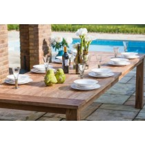 2.4m Reclaimed Teak Open Slatted Dining Table