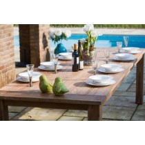2m Reclaimed Teak Open Slatted Dining Table