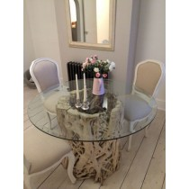 1.2m Java Root Dining Table with 4 Paloma Chairs