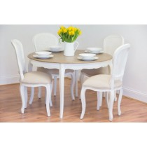 Murano Dining Table with 4 Murano Dining Chairs