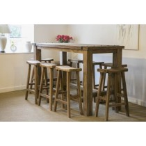 Rustic Bar Character Table with Bar Stools