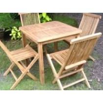 Teak 4 Seater Square Set