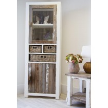 Reclaimed Pine Coastal Tall Cabinet