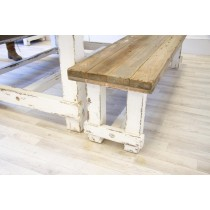 Reclaimed Pine Coastal Dining Bench