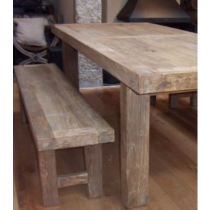 Reclaimed Elm Straight Leg Dining Bench 2.4m (Table Not Included)