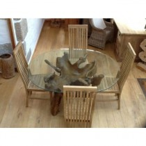 1.5m Oval or Rectangular Reclaimed Teak Root Dining Table
