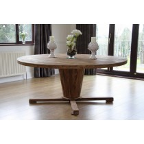 Reclaimed Teak Character Round 130cm Dining Table